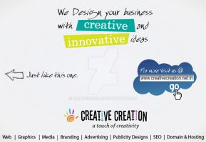 Print Media Ad for Creative Creation by MadreMedia
