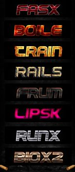 Text Layer Effects .PSD by YesIMaDesigner
