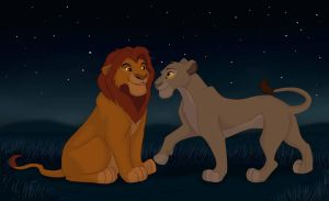 Mufasa and Sarabi young by MarryGorgeous