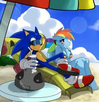 MLPxSTH: Sonic and Dash by ss2sonic