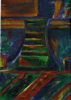 Abstract: Dark Staircase by Tobyana
