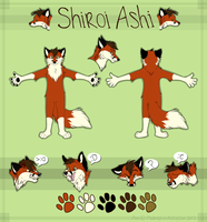 Shiroi Ashi Ref -commission- by MidnightAlleyCat