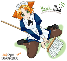 hasuki maid by irask