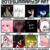 2013 Summary Of Art by Monochrome-Melody