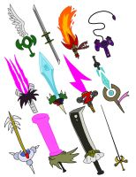 Kazaa's Swords by Kirbopher15