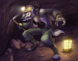 Subterranean Badger by Dreamkeepers