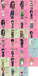 OCs (All of them from one universe I remember) by GoatMomther