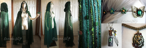Dryad Forest Spirit Cloak by enchantedsea