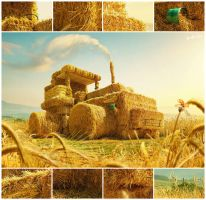 Hay-tractor by glazyrin