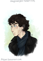 BBC Sherlock bust by Aibyou