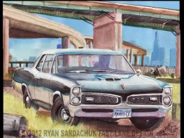 1967 Pontiac GTO Under Chicago Freeway Ramps by FastLaneIllustration