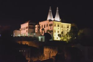 Sintra National Palace at night by MarcosRodriguez
