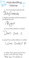 That Handwriting Meme... by SillyCaracal