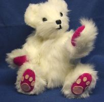 Plush White Teddy Bear by CreativeCritters