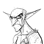 Drawlloween Inktober Day 03 - Goblin by KrisSmithDW