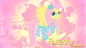 Fluttershy 'Sexy' Wallpaper by BlueDragonHans