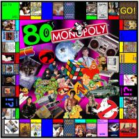 80's Themed Monopoly Board! by IchiharaAmaya