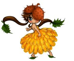 autumn chibi fairy by naneste