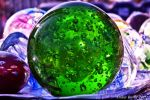 Green Bubble Paperweight by XanthicAmber