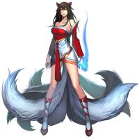 LOL Ahri by tyutii