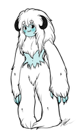 Chilly the yeti by Askthewerewolfprince
