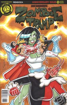 Zombie Tramp Power Girl Sketch Cover by BillMcKay