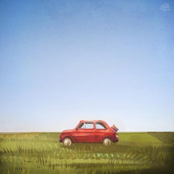 Landscape with car 2 by McPyrus