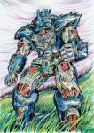 Optimus Primal - colour by JoeTeanby