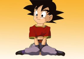 Kid Goku and Pan Head Swap by L4Drules4