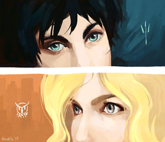 percy + annabeth - eyes by shorelle