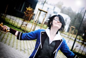 Fushimi Saruhiko - Blood and Flesh by kayleighloire