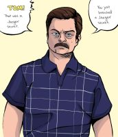 Ron Swanson 2 by Tallychyck