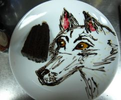 Wolf cake plate by Adriellovesart