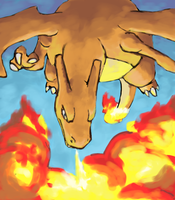 unfinished charizard by Psidra