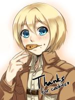 Armin with cookies by Oiru777