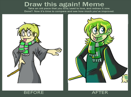 Redraw: Slytherin Lizdraws by Coffeetology