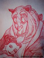 Beauty and the Beast doodle by EdArtGeek