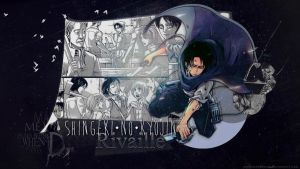 Wallpaper: Shingeki no kyojin - Rivaille by Panelletdelimon