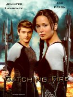 Catching Fire poster with Zac Efron as Finnick by Soph-LW