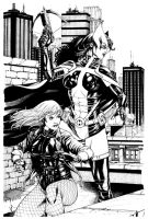 JLA Jan. Black Canary and Huntress SOTD by RobertAtkins