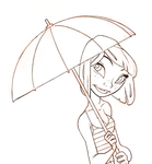Rain sketch by alohalilo