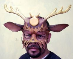 Cernunnos Leather Mask by TomBanwell