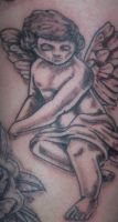 cherub tattoo by me by drewcarcrazy
