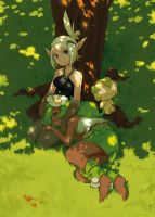 Evangelyne and Amalia by kosal