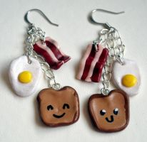 happy kawaii breccy earrings by LoopyLouLouDesigns