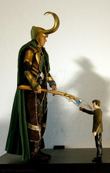 Loki vs. The Doctor by blue-cage