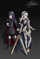 Fire Emblem - Lucina and Corrin by Leordan