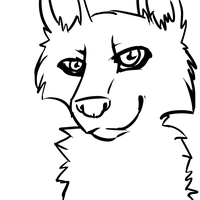 free wolf lineart by EmalizDaCatX3