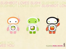 Sushibot wallpaper 2 by pezbananadesign
