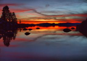 Sand Harbor sunset130204-25hd by MartinGollery